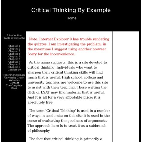 exle of critical thinking critical thinking by exle pearltrees