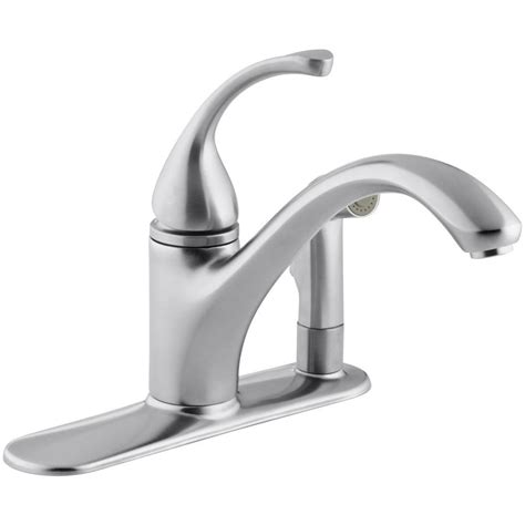 kohler kitchen faucets home depot kohler fairfax single handle pull out sprayer kitchen
