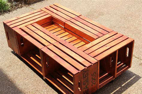 Diy Wooden Crate Coffee Table by Diy Wooden Crate Coffee Table Woodworking Plans