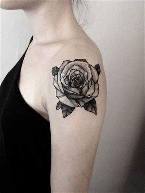 rose chest tattoos tumblr black shoulder ink best design ideas