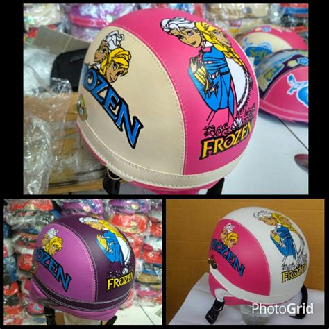 Helm Anak Frozen Model Pilot mainan frozen mainan oliv