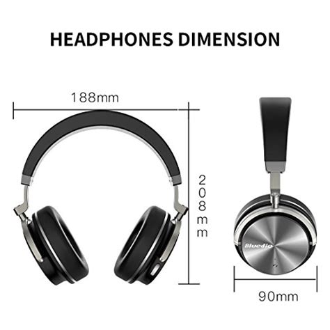 Bluedio T4 Turbine Wireless Bluetooth Headphones bluedio t4 turbine active noise cancelling ear swiveling wireless bluetooth headphones