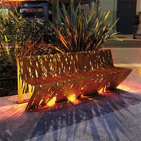 decoration metal pour jardin innovative seating crossed bench by lab23