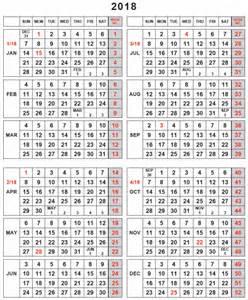 Kalender Wk 2018 Julian Calendar 2018 Calendar Printable Free