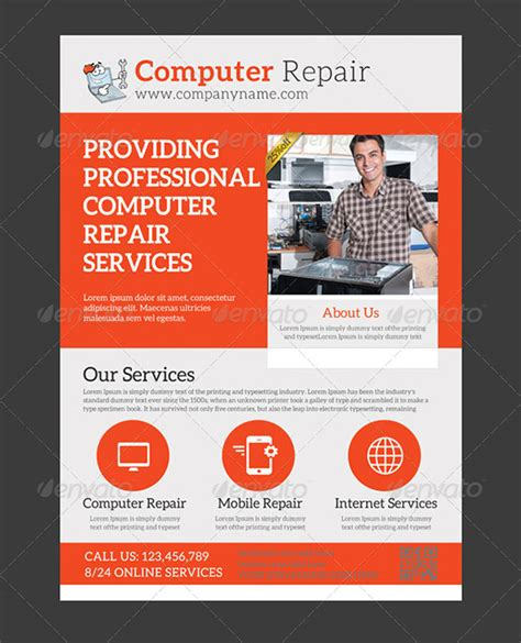 service flyer template flyers for computer repair flyers www gooflyers