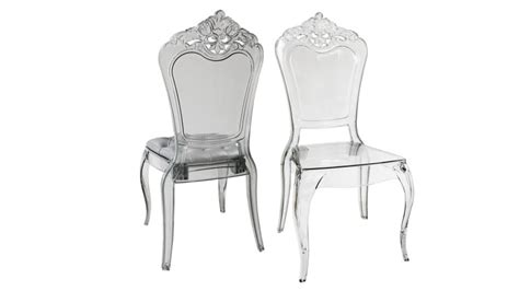 chaise baroque transparente chaise astorga design en plexi transparent mobilier moss