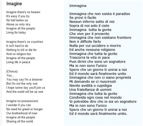 imagine di lennon testo amici in allegria imagine lennon