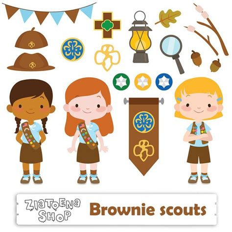 Scout Brownie Clip by Brownie Scout Clipart Scout Clip Cing Digital