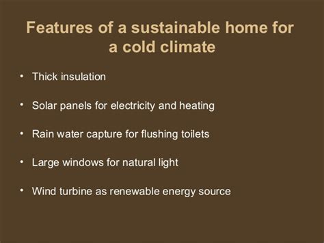 home features making a sustainable house model