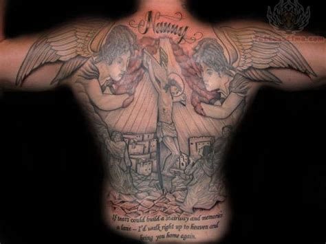 religious back tattoos religious backpiece