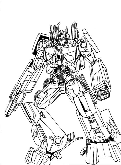 Free Printable Transformers Coloring Pages For Kids Transformer Color Pages