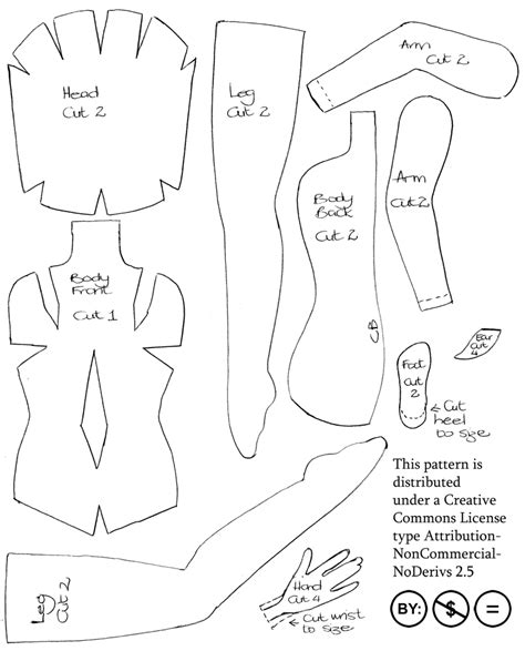 Felt Fairy Doll Pattern By Impetere On Deviantart Felt Shapes Templates