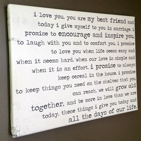 funny vows on canvas by Geezees customize yours with this