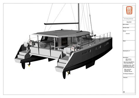 catamaran davit design cruising cat final design boat design net
