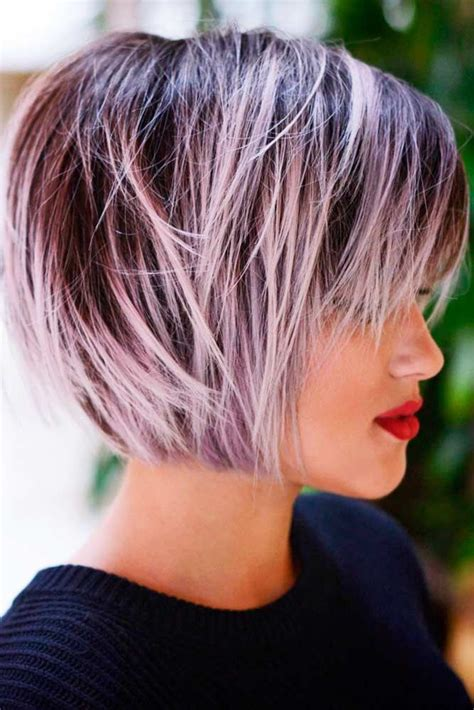 short bob hairstyle http www marieclaire fr carre court 21 layered bob haircuts to look sexy coiffures cheveux