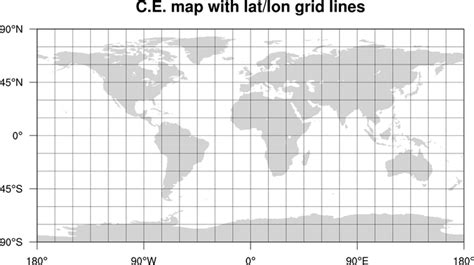 grid pattern map ncl graphics lat lon grid lines on maps