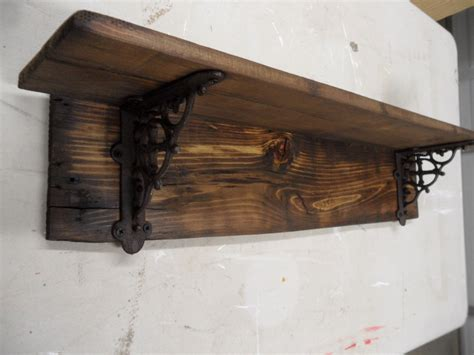 Decorative Shelving Brackets For Wall Shelving Rustic Barnwood Style Shelf Primitive Wall Shelf Decorative