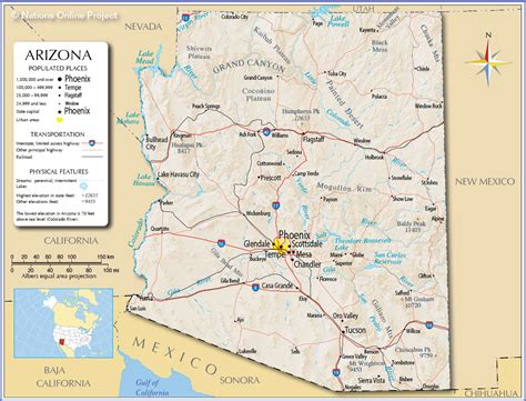 arizona map with cities map of arizona arizona maps mapsof net