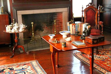 tea room quincy fireplace tea table drop leaf table in paneled room at peacefield quincy ma