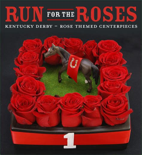 Kentucky Derby Party Run For The Roses Centerpiece Ideas Kentucky Derby Centerpieces