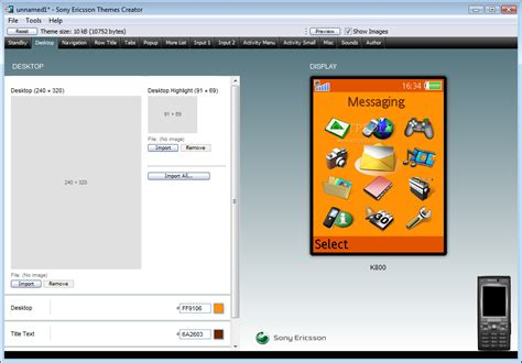 download themes builder download sony ericsson themes creator 3 29 for windows