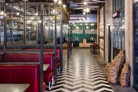 Handmade Burger Co Birmingham - handmade burger co restaurant by brown studio birmingham