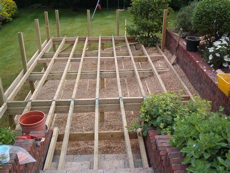 design decking frame raised decking guide q deck