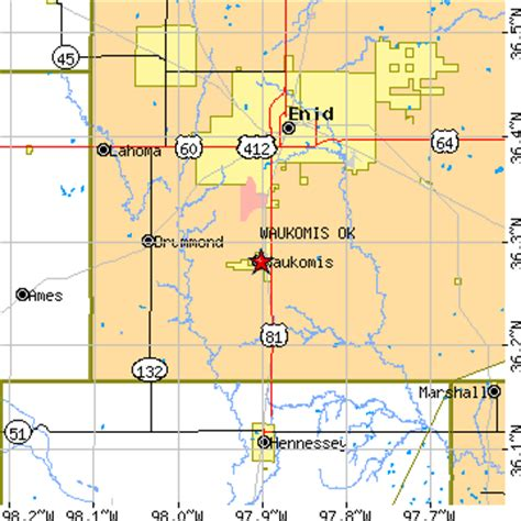 hennessey ok zip code waukomis oklahoma ok population data races housing