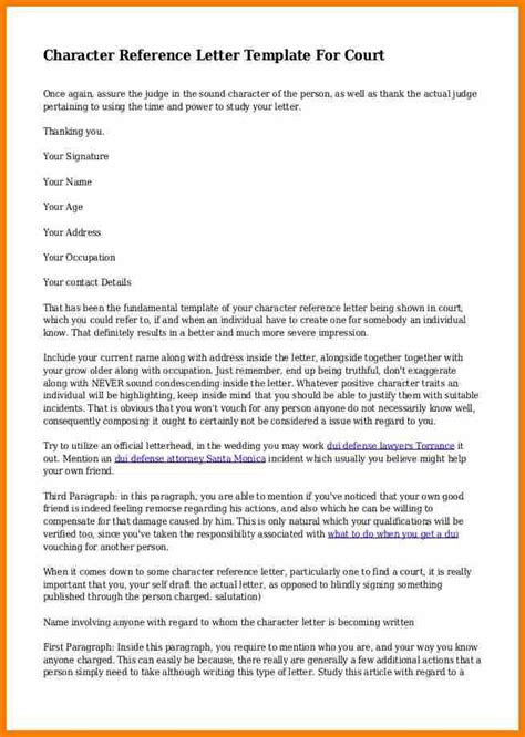 character reference letter to judge for child custody