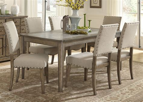 kitchen and dining furniture liberty furniture weatherford 7 piece rectangular leg