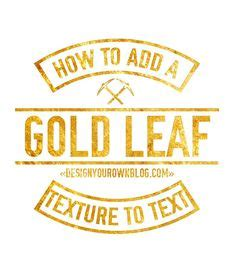 gold pattern font how to make gold font free easy diy pinterest