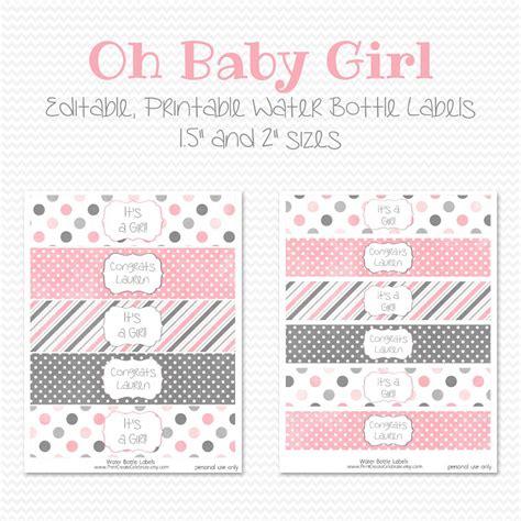 baby shower bottle labels template personalized baby shower water bottle labels popular