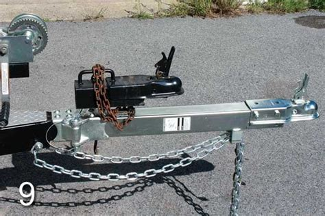 boat trailer tongue winch how to install a folding swing tongue trailering