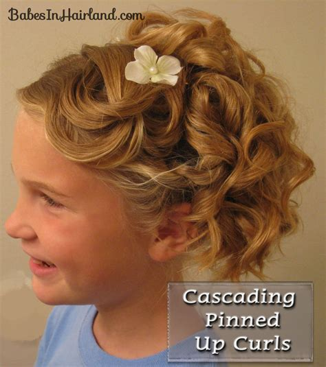cascading pinned up curls in hairland