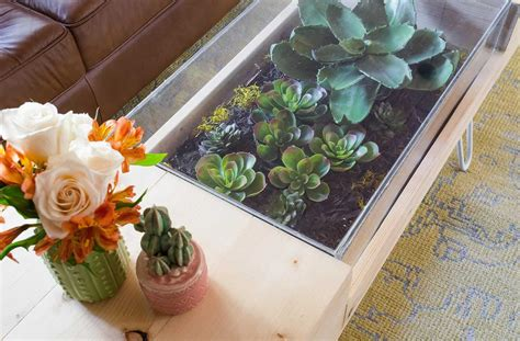 diy wooden coffee table a beautiful mess diy terrarium coffee table a beautiful mess