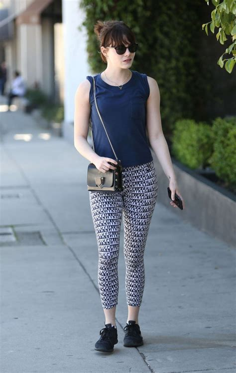 emma stone workout emma stone in tights after a workout 02 gotceleb