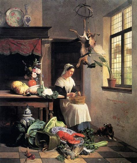 kitchen paintings david emile joseph de noter 1818 1892 a maid in the