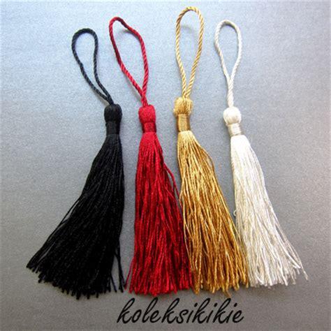 cara membuat gelang dari ikat pinggang tassel ornamen rumbai penghias aksesoris koleksikikie