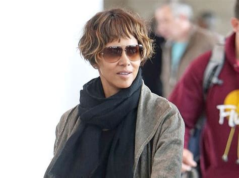 halle berry  ear length bob haircut  blunt bangs   makeover  weekly