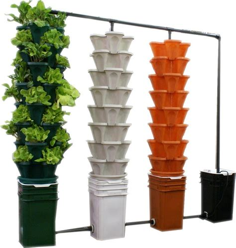 large 5 tier vertical garden tower 5 black