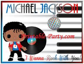 inspired by michael jackson birthday decorations printable supplies
