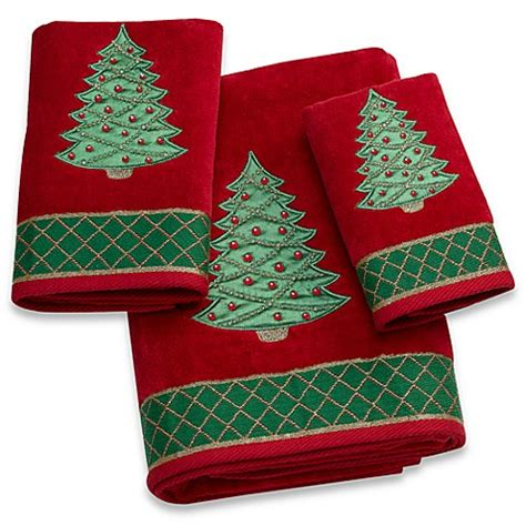 christmas towels bathroom christmas tree bath towel bed bath beyond