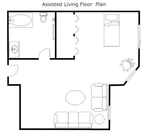 assisted living floor plans assisted living floor plan