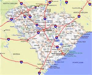south carolina poster dealers travel map