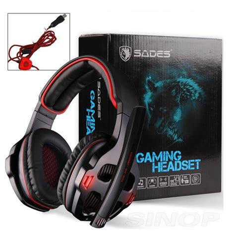 Headset Sades Sa 903 Gaming sades sa 903 gaming headset 7 1 surround sound channel usb wired headphone with mic volume