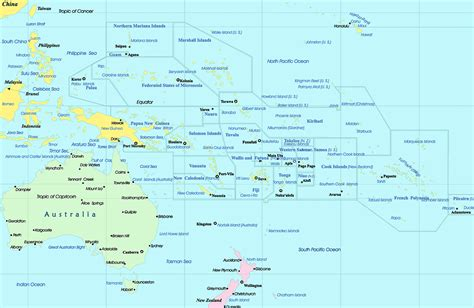 map of oceania countries memographer travel photo journal