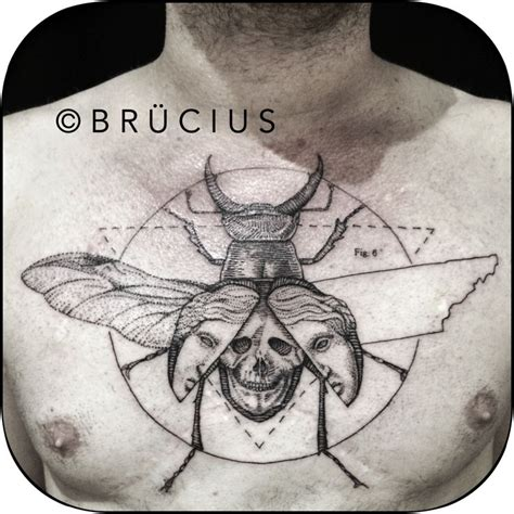 blue scarab tattoo br 220 cius sf brucius blackwork linework