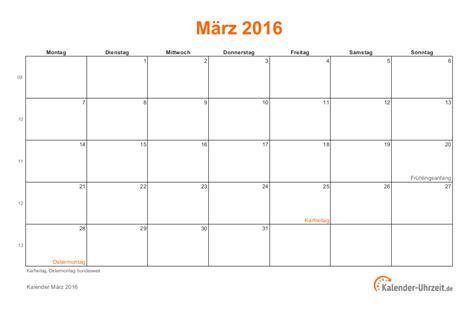 Kalender 2016 Drucken M 228 Rz 2016 Kalender Mit Feiertagen