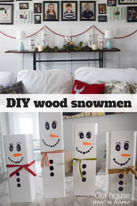 Fall Entryway Decor - wooden snowman craft easy christmas decoration idea our house now a home