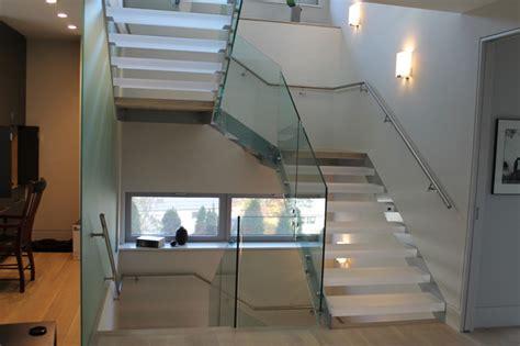 u shaped stairs u shaped stair with acrylic treads and glass railing